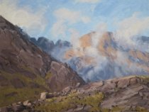 Low Cloud by Loch Coruisk, Isle of Skye - Oil - 20 x 16