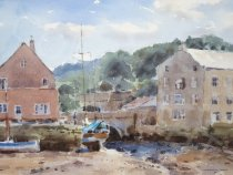 Moorings by Spittal Bridge Whitby - Watercolour - 14 x 10