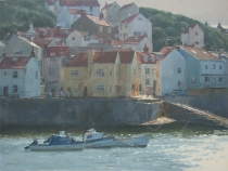 The Cod & Lobster, Staithes. Oil